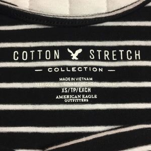 American Eagle Outfitters Tops - Striped boat neck crop top